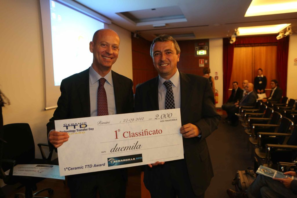 Ist Technology Transfer Award. Tecnargilla. Italy